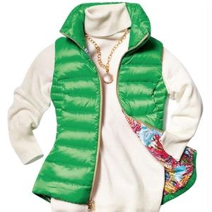 NWT Green Lilly Pulitzer Vest